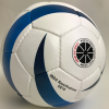 Blue Flame football with ISBA logo.