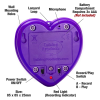 Front view Talking heart voice recorder with parts labelled