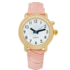 Top angle RNIB Ladies talking watch with pink leather strap