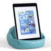 Bookaroo Bean Bag Reading Rest being used to support an iPad in portrait view