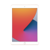 Gold Apple iPad 8th Gen 128GB front of tablet in portrait