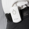 A person wearing the pager