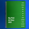 Front cover of Big Print A4 diary