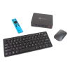 GuideConnect TV remote, with keyboard and other accessories