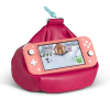 Bookaroo Bean Bag Reading Rest being used to support a handheld games console