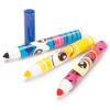 three funny face scented markers