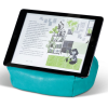 Bookaroo Bean Bag Reading Rest being used to support an iPad in landscape view