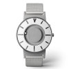 Face on of a stylish tactile watch