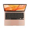 Gold MacBook Air 256GB open showing keyboard