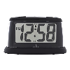 An easy-to-see LCD alarm clock in black