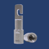 Ambutech 8mm tip adaptor showing assembly for a hook to thread conversion