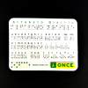 The printed Spanish braille alphabet card including with the keyring