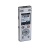 Side angle view of Olympus DM-770 voice recorder