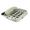 Top side view of the Geemarc Dallas 10 big button corded phone