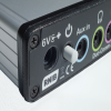 Image of the back of the Duo-Comm 2 splitter box audio mixer