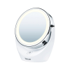 Front view of Beurer mirror against a white background