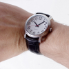 Large easy-to-see watch being worn on wrist