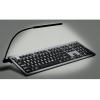 Large print keyboard with detachable light - white on black keys