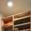 The sensor light affixed above a shelf