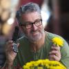 Man using the HM86-U phone to make a call